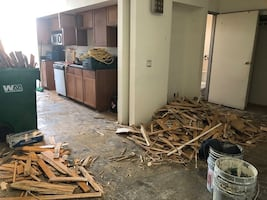 Need hauling away some old flooring