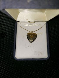 14 kt gold filled heart locket with chain Centreville, 20120
