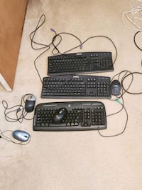 black corded computer keyboard and mouse Laurel, 20707