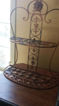 Copper colored shelf