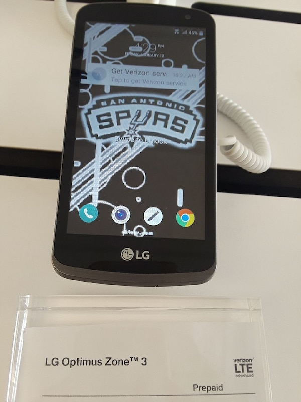black LG Optimus Zone 3