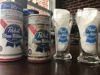Vintage steel cans and glasses(PBR) Idlewylde, 21239