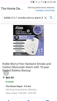 3 pack smoke and co alarms  Kitchener, N2E 1E8