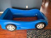 Little tikes blue race car toddler bed