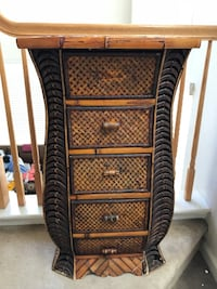 Black and brown wicker 3-drawer chest Salinas, 93906