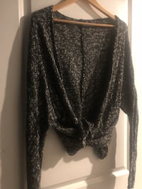 Free people wrap cardigan ~ size large Surrey, V4N 6A2