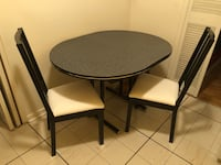 Black kitchen table with two chairs Toronto, M3H 3P9