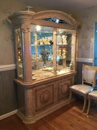 Italian dining table and China cabinet obo 37 mi