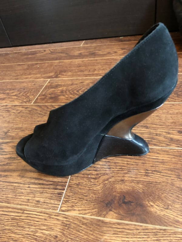 Anthropologie Black Platforms - Size 9, comes with shoe bag 3
