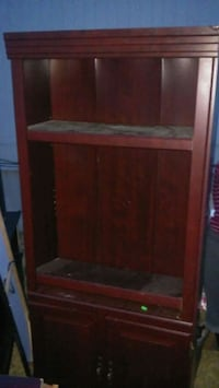 brown wooden framed glass cabinet Fort Worth, 76114
