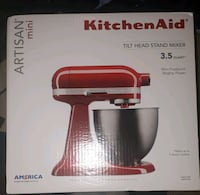 Brand new kitchen aid mini in red $220! Today only Westbank, V4T 2H2