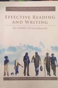 Effective Reading and Writing COMM170  Toronto, M1G 0A2