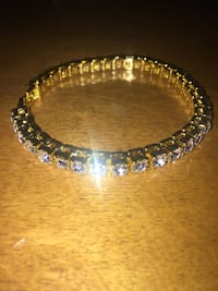 gold-colored bracelet with clear gemstones Sherwood Park, T8A
