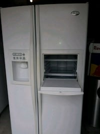 white side-by-side refrigerator with dispenser Lewisville, 75067