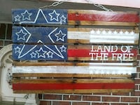 Patriotic American flag made out of pallet wood  Georgetown