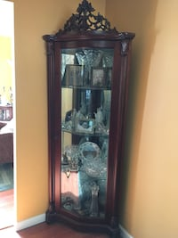 brown wooden framed glass display cabinet East Northport, 11731