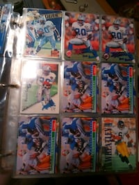 nine assorted football trading cards Sonoma, 95476