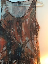 brown and black scoop-neck sleeveless top Richmond Hill, L4C 1J2