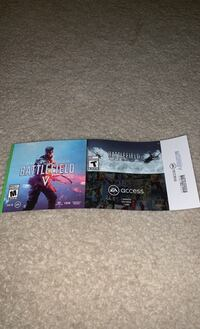 Game codes for Battlefield 5, Battlefield 1943, and EA access services Nashville, 37211