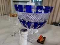 blue and clear glass vase Holiday, 34691
