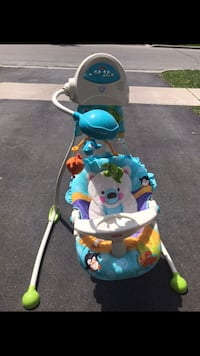 baby's white and blue cradle n swing Vaughan, L6A