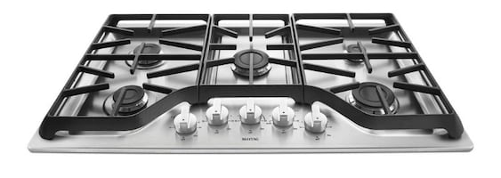 Maytag 36 in. Gas Cooktop in Stainless Steel with 5 Burners