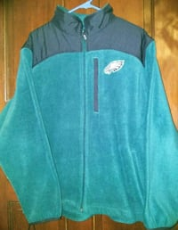 NFL Eagles Teal and Black Fleece Sweater Size L Allentown, 18102