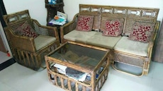 Sofa set 3 seater + 2 Chairs + Center table
