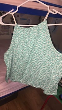 teal and white floral sleeveless top Richmond Hill, L4C 5N8