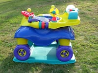 toddler's blue and pink ride on toy null