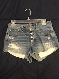 women's blue denim short shorts London, N5V 2H6