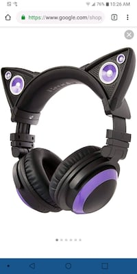 Cat Ear Headphones with Speaker  Riverside, 92503