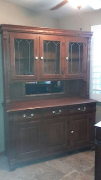 brown wooden cabinet with hutch Whittier, 90605