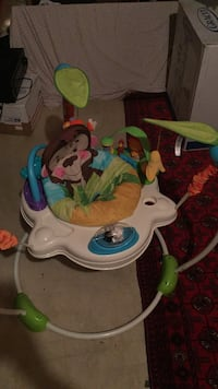 baby's white and green monkey activity walker Chantilly, 20152