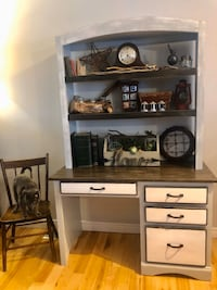 Rustic desk with hutch.  Throw me an offer ;)