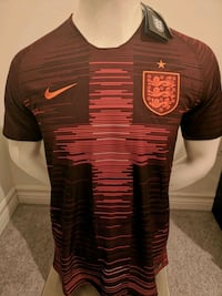 Brand new in tags England Pregame 2019 Jersey!  Mississauga, L5B 3W4