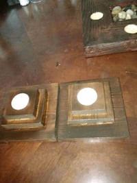 2 handcrafted wooden candle holders O'Fallon, 63368