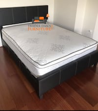 Brand new black queen size platform bed with pillowtop mattress Silver Spring, 20902