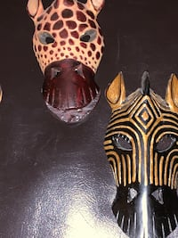 Zebra mask from Zimbabwe $40 for all Baltimore, 21206