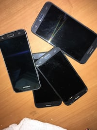 Samsung j7-j3 6-& 2 j3's- for use or parts Hillsboro, 97123