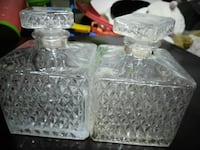 two clear cut glass decanters Phoenix, 85023
