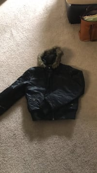 Guess Women's Bomber Coat Silver Spring