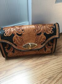 Hand made leather purse & coin purse