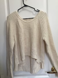 cable-knitted beige sweater