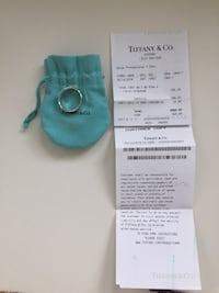 Tiffany Ag 925 silver ring. Size 21 (21 mm wide) Munich