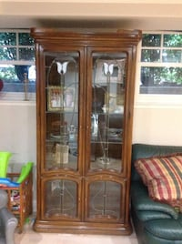 Leaded Stained Glass Antique Hutch Los Gatos, 95030