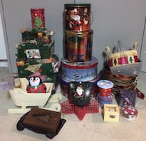 25 Christmas Baskets, Boxes, Tins, Containers For Sale - Most New