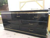 black wooden TV stand with cabinet Los Angeles, 91335