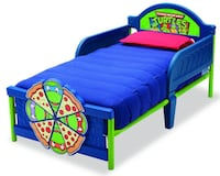 blue and green TMNT plastic bed