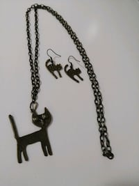 cat necklace and earrings Barrie, L4N 5V2